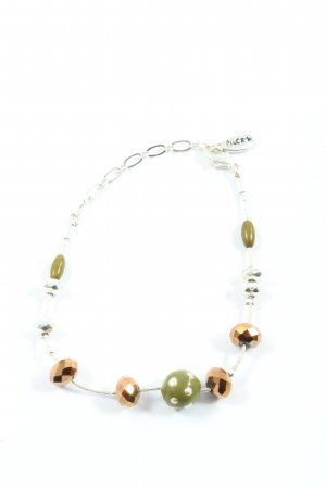 Pilgrim Armband silberfarben-grün Elegant