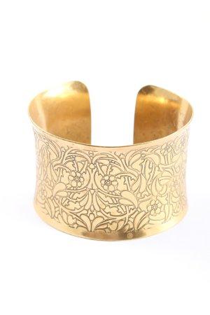 Pilgrim Armspange goldfarben Blumenmuster Glitzer-Optik
