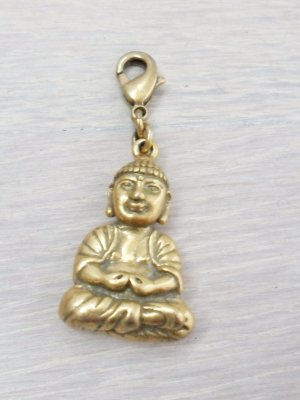 Pilgrim Charm Anhänger, Budda, Messing-goldfarbend, neuwertig
