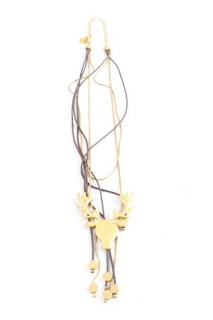 Pilgrim Colliers ras du cou brun-doré style décontracté