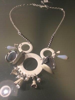 Pilgrim Collier Necklace white-silver-colored
