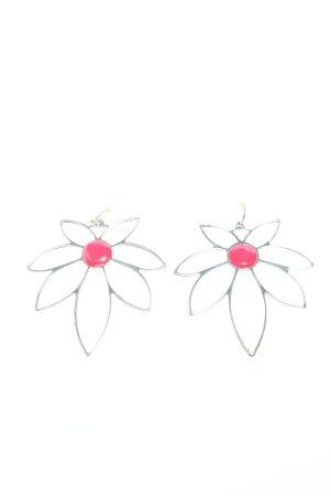 Pilgrim Pendientes tipo aro color plata-rosa look casual
