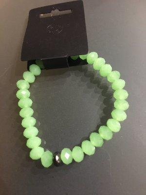 Pilgrim Braccialetto sottile verde chiaro