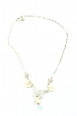 Pilgrim Halskette silberfarben-creme Casual-Look