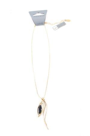 Pilgrim Halskette goldfarben-schwarz Elegant