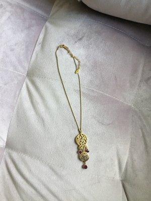 Pilgrim Chaîne à maillons doré-violet