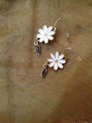 Pilgrim Ohrringe Ohrhänger Gold Blumen Gänseblümchen - NEU