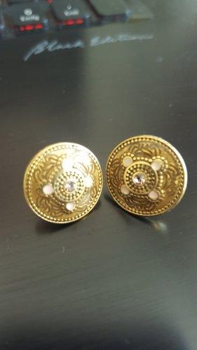 Pilgrim Ear stud bronze-colored metal