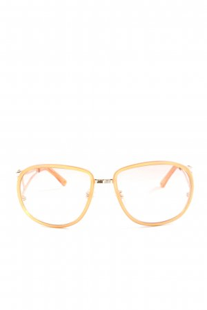 Pilgrim Oval Sunglasses light orange casual look