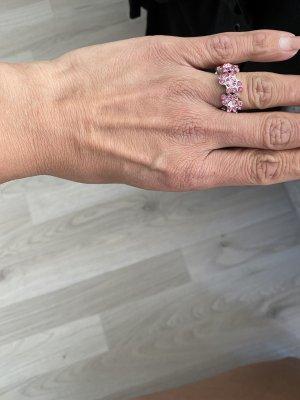 Pilgrim Ring flexibel rosa Steinchen gr 53/55