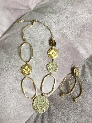 Pilgrim Link Chain gold-colored-khaki