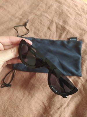 Pilgrim Owalne okulary przeciwsłoneczne czarny
