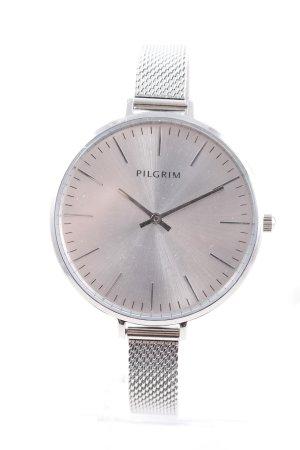 Pilgrim Uhr mit Metallband silberfarben Casual-Look