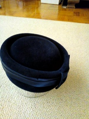 Vintage Bowler Hat dark blue