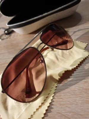 Pilotenbril goud Gemengd weefsel