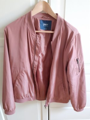 Only Giacca bomber color oro rosa-rosa antico