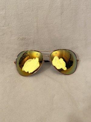 Gafas de piloto amarillo-verde claro