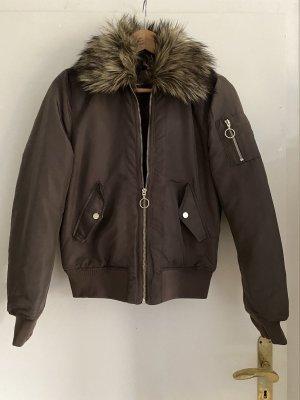 H&M Blouson aviateur gris brun