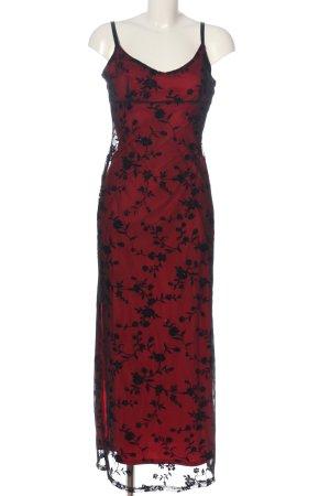 Pimkie Abendkleid rot-schwarz Allover-Druck Elegant