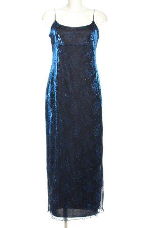 Pimkie Evening Dress blue allover print elegant