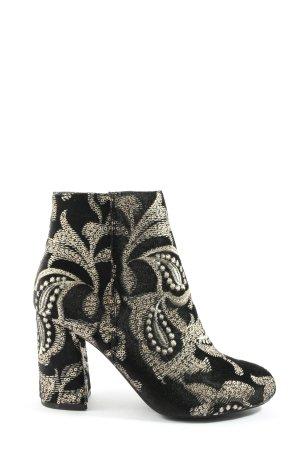 Pimkie Absatz Stiefel schwarz-goldfarben extravaganter Stil