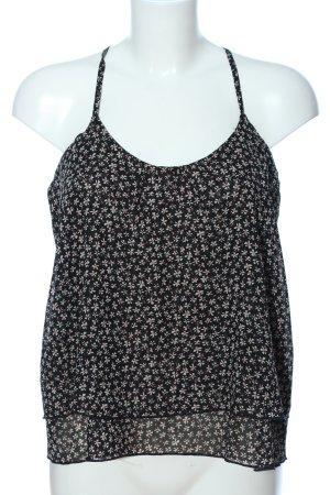 Pimkie ärmellose Bluse schwarz-weiß abstraktes Muster Casual-Look