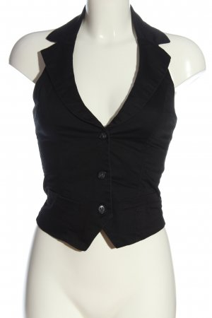 Pimkie Chaleco de vestir negro estilo «business»