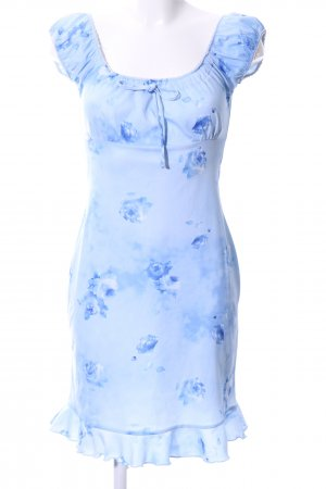 Pimkie Vestido babydoll azul estampado floral look casual