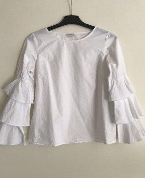 Pimkie Slip-over Blouse white cotton