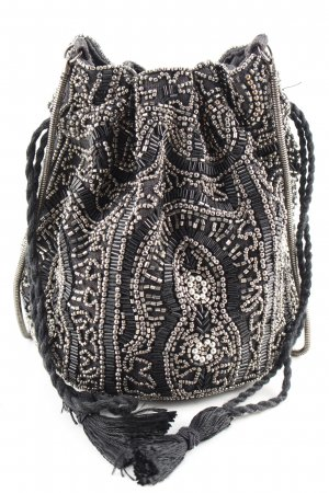 Pimkie Pouch Bag black-silver-colored wet-look