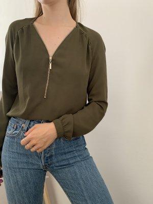 Pimkie Bluse khaki mit Zipp