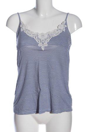 Pimkie Camisole blau-weiß Allover-Druck Casual-Look