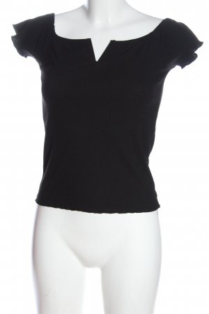 Pimkie Carmen shirt zwart gestippeld casual uitstraling