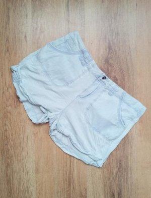 Pimkie Denim-Hotpants in 36, Hellblau, Denim /Tencel & Ziernähte