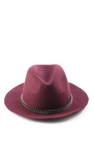 Pimkie Chapeau en feutre rouge style décontracté