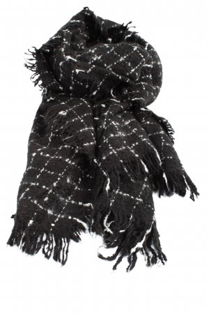 Pimkie Fringed Scarf black-white check pattern casual look