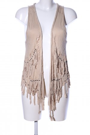 Pimkie Fringed Vest natural white casual look
