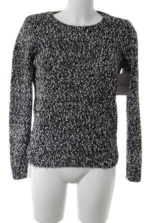 Pimkie Grobstrickpullover schwarz-weiß Casual-Look