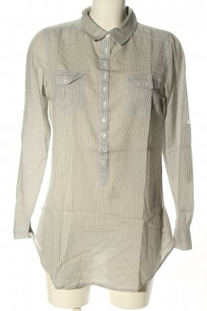 Pimkie Hemd-Bluse creme-hellgrau Streifenmuster Business-Look