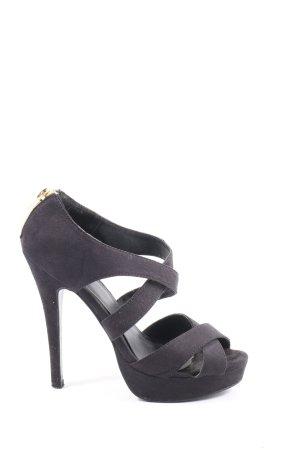Pimkie High Heel Sandaletten schwarz extravaganter Stil