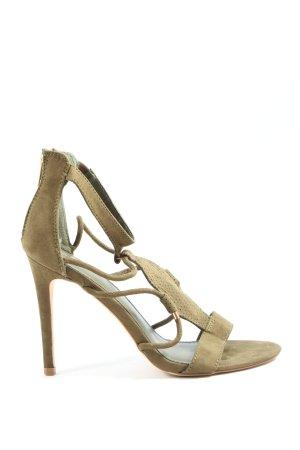 Pimkie High Heel Sandaletten braun Casual-Look
