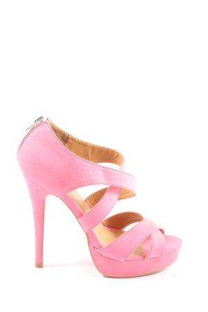 Pimkie High Heel Sandaletten pink Elegant
