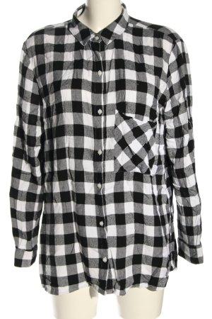 Pimkie Holzfällerhemd schwarz-weiß Allover-Druck Casual-Look