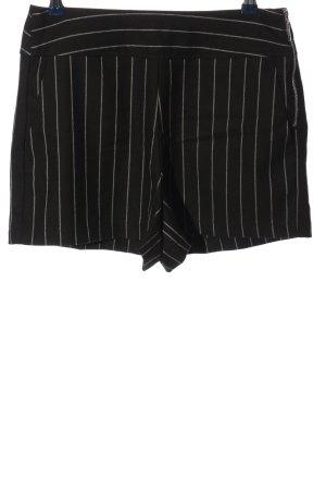 Pimkie Short moulant noir-blanc cassé motif rayé style décontracté
