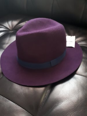 Pimkie Chapeau en feutre violet foncé