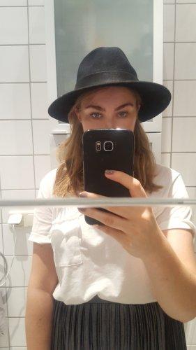 Pimkie Wełniany kapelusz czarny-srebrny Wełna