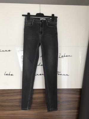 Pimkie Hoge taille jeans grijs-lichtgrijs