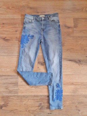 Pimkie Jeans bestickt blau Gr. 36