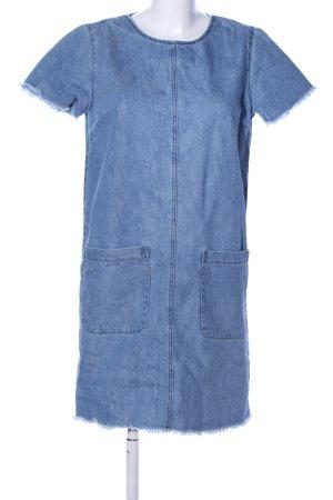 Pimkie Jeanskleid blau Casual-Look, 83% Baumwolle