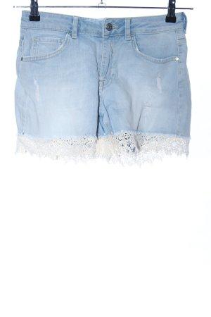 Pimkie Jeansshorts blau-weiß Casual-Look